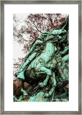 Riding Tight Framed Print by Christopher Holmes
