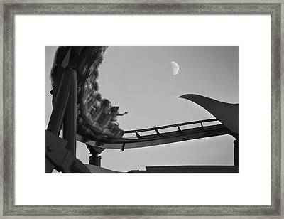 Riding To The Moon Framed Print by Mike McGlothlen