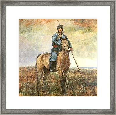 Riding Youth Framed Print