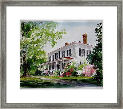 Framed Print featuring the painting Ried-thurman-wannamaker Home by Gloria Turner