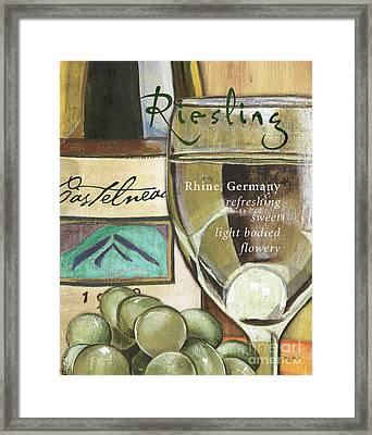 Riesling Wine Framed Print by Debbie DeWitt