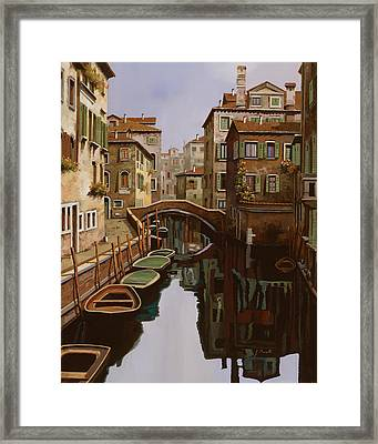 Riflesso Scuro Framed Print