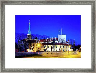Framed Print featuring the photograph Riga Castle by Fabrizio Troiani