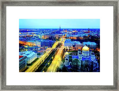Framed Print featuring the photograph Riga by Fabrizio Troiani