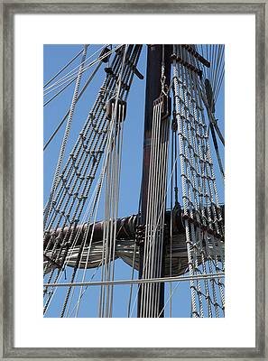 Rigging Aboard The Galeon Framed Print by Dale Kincaid