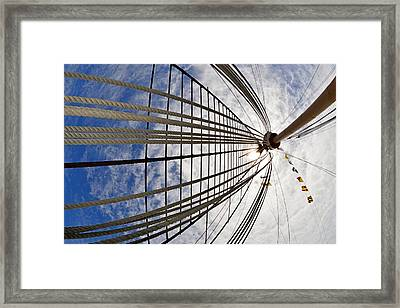Rigging Of Queen Mary Framed Print