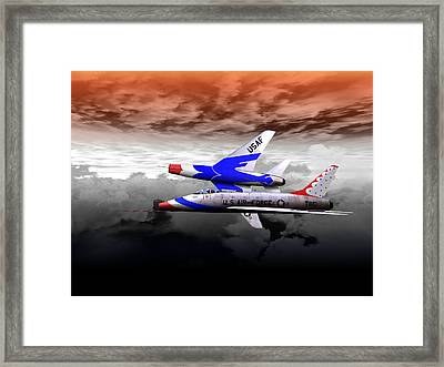 Right Break Framed Print
