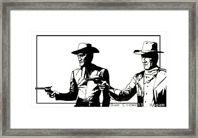 Right Handed Justice Framed Print by Dan Clewell