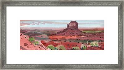 Right Mitten Panorama Framed Print by Donald Maier