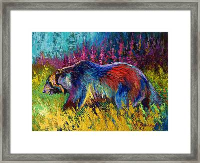 Right Of Way - Grizzly Bear Framed Print by Marion Rose