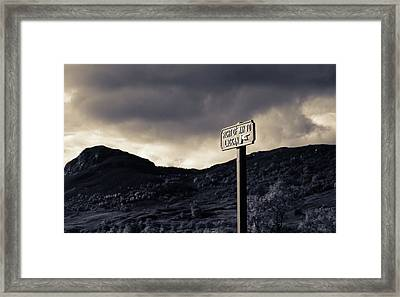 Right Of Way To Laggan Framed Print
