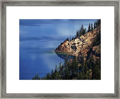 Right Side Of Crater Lake Oregon Framed Print