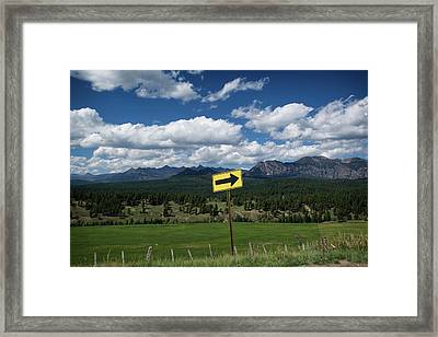 Right This Way Framed Print