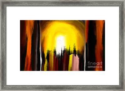 Right Way Framed Print by Rushan Ruzaick