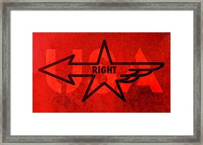 Right Wing Framed Print by Paul Gaj