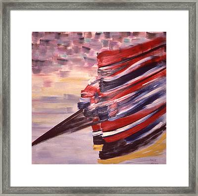 Right Wing Framed Print by Ken Yackel