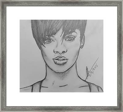 Rihanna 2 Framed Print