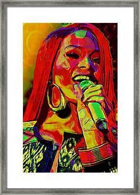 Rihanna 2 Framed Print by  Fli Art