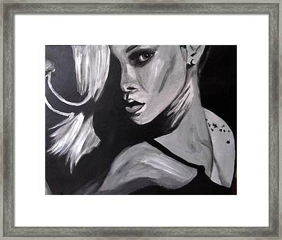 Rihanna Framed Print by Angel Love