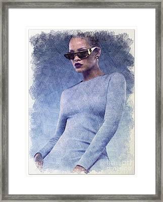 Rihanna Art Framed Print