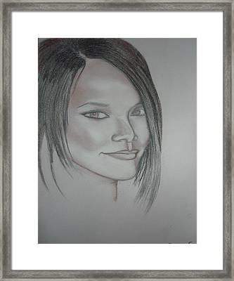 Rihanna Framed Print by Chibuzor Ejims