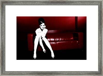 Rihanna Cooling Out Framed Print by Brian Reaves