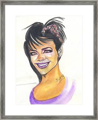 Rihanna Framed Print by Emmanuel Baliyanga
