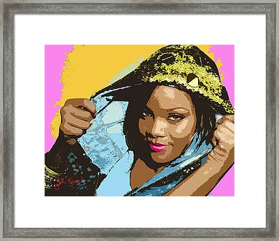 Rihanna Framed Print by John Keaton