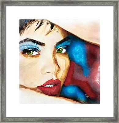 Rihanna Like A Diamond Framed Print by Vya Artist