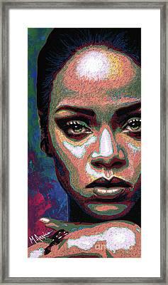 Rihanna Framed Print