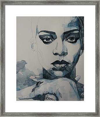 Rihanna - Pre Finish  Framed Print