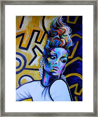 Rihanna   Framed Print by Javier J Sanchez Primo Todd