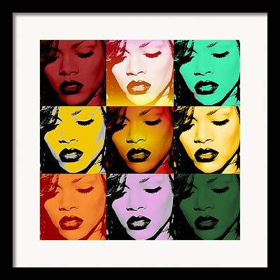 Rihanna Framed Prints