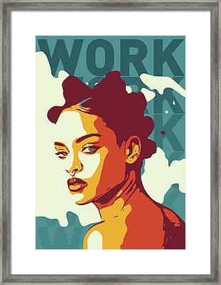 Rihanna Framed Print by Greatom London