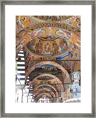 Rila Monastery In Bulgaria Framed Print by Iglika Milcheva-Godfrey