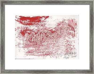 Rila Monastery Red Framed Print by De Fago