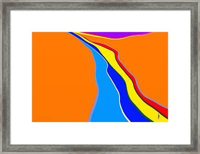 Rill Framed Print