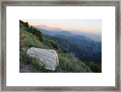 Rim O' The World National Scenic Byway Framed Print