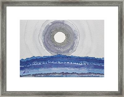 Rim Of The Moon Original Painting Framed Print by Sol Luckman