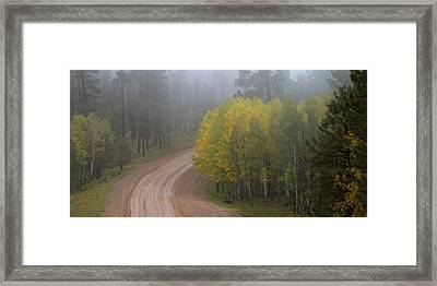 Rim Road Framed Print