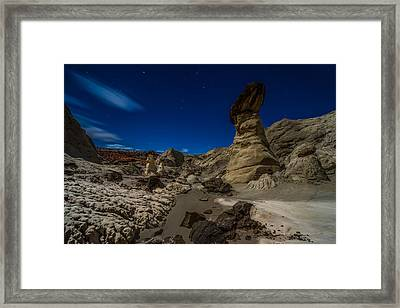 Rim Rock Toadstools Grand Staircase National Monument  Framed Print by Larry Marshall