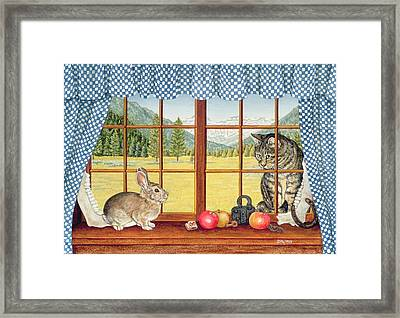 Rimrock Cottontail Framed Print