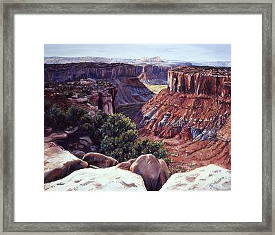 Rimrocked No Way Down Framed Print