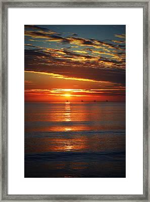 Rincon Sunset Framed Print by John A Royston