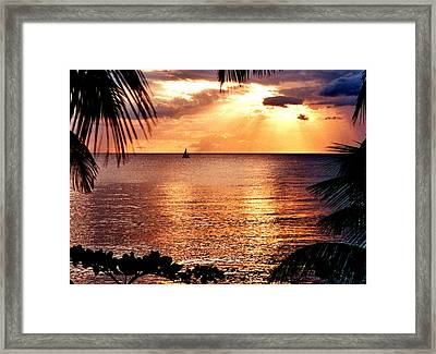 Rincon Sunset Framed Print by Michael  Cryer