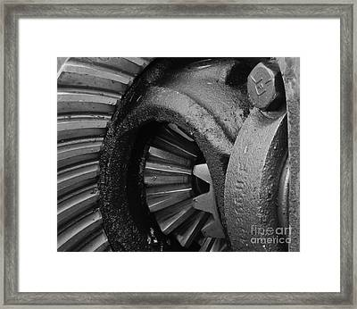 Ring And Pinion Bw Framed Print