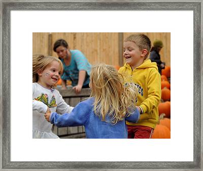 Ring Around The Rosie Framed Print by Debbie Hall
