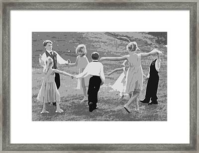 Ring Around The Rosy Framed Print by Colleen Coccia