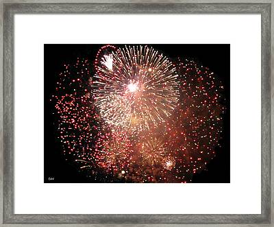 Ring Blast Framed Print by Debra     Vatalaro