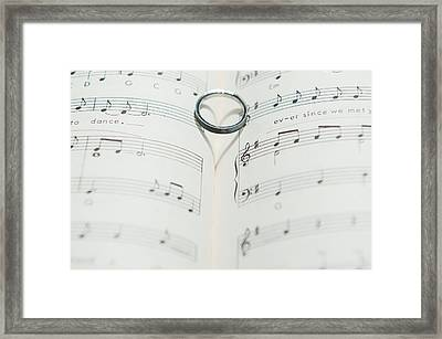 Ring Heart Shadow II Framed Print